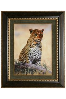 "Картина ""Африканский леопард"" Живой шелк"