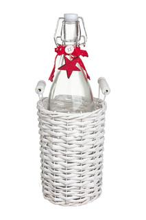 Плетенная корзина с бутылкой DUE ESSE CHRISTMAS
