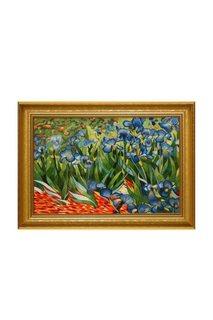 Картина Ирис (по мот Ван Гога) Живой шелк