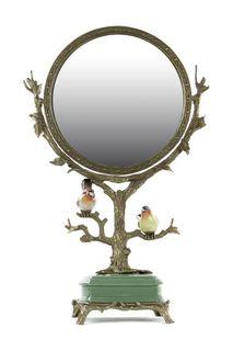 Зеркало настольное с птицами ГЛАСАР