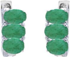 Серебряные серьги Серьги Evora 628324-e