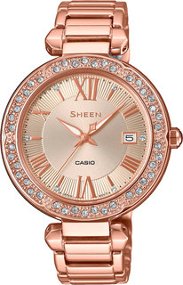 Японские женские часы в коллекции Sheen Женские часы Casio SHE-4057PG-4AUER