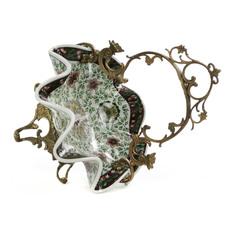 Чаша Glasar фарфоровая с бронзовой ручкой 22x22x34см ГЛАСАР
