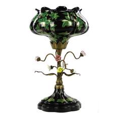 Чаша Glasar фарфоровая с бронзой 43,18см ГЛАСАР