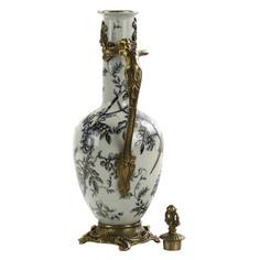 Кувшин Glasar фарфоровый с бронзовой ручкой и крышкой 34,29см ГЛАСАР