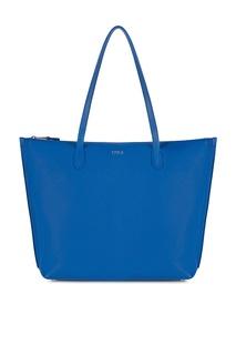 Ярко-синяя сумка из кожи Luce Furla