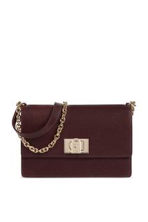 Прямоугольная сумка 1927 винного цвета Furla