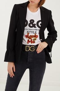 Черный ремень с монограммой Dolce&Gabbana
