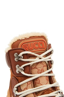 Коричневые хайтопы Flashtrek GG Gucci