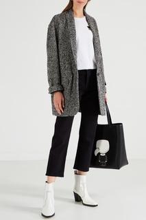 Черная сумка с рисунком Karl Lagerfeld
