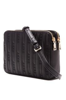 Черная сумка с фактурной отделкой Dkny