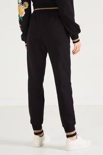 Черные брюки-джоггеры с цветочным рисунком Dolce&Gabbana