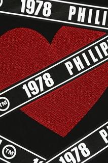 Свитшот с логотипами и стразами Philipp Plein Kids