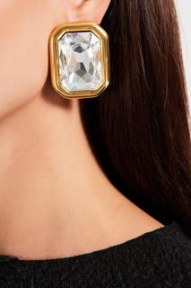 Золотистые клипсы с кристаллами Dallas Balenciaga