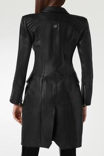 Приталенное пальто из кожи Philipp Plein