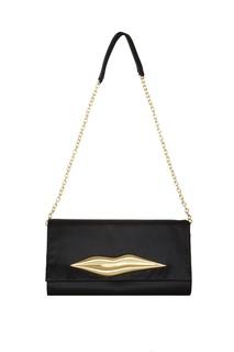 Черный клатч на цепочке Carolina Lip Diane Von Furstenberg