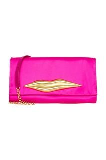 Ярко-розовый клатч Carolina Lip Diane Von Furstenberg