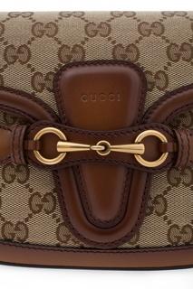 Кожаная сумка на ремне Lady Web Gucci