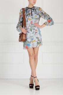 Кожаная сумка Lady Web leather shoulder bag Gucci