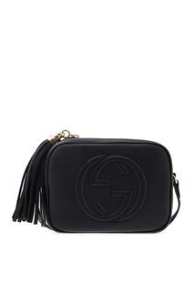 Кожаная сумка с кисточкой Soho Gucci