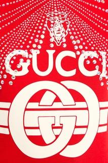 Красная футболка с кристаллами Gucci