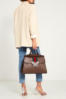 Кожаная сумка с бабочкой Gucci Totem
