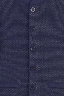 Темно-синий жакет на пуговицах Jacote