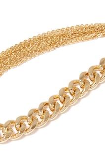 Золотистый браслет с цепочками Lisa Smith