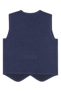 Синий жилет из текстурированного джерси Jacote