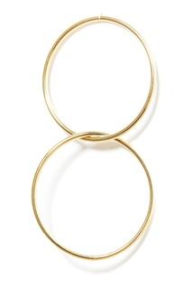 Золотистые серьги с двойными кольцами Lisa Smith