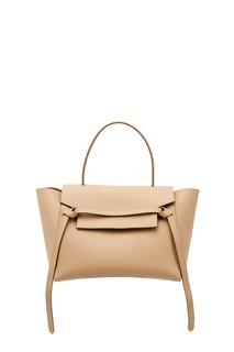 Бежевая кожаная сумка Celine