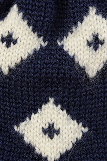 Синие вязаные перчатки Dolce&Gabbana Children
