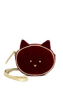Красная бархатная сумка CHACHA Bonpoint