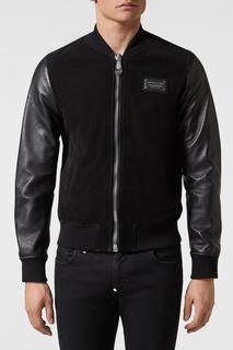 Комбинированная куртка с черепом Philipp Plein