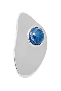 Серебристые серьги с синими камнями Lisa Smith