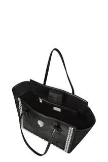 Черная сумка с кристаллами Philipp Plein