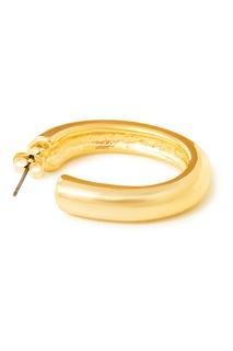 Золотистые незамкнутые серьги-кольца Aqua