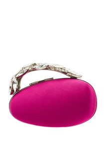 Розовый клатч Nadi Manolo Blahnik