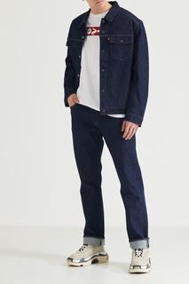 Темно-синяя джинсовая куртка Levis
