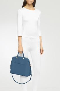 Синяя кожаная сумка My Piper Furla
