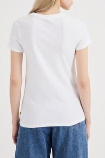 Белая футболка с логотипом Levis