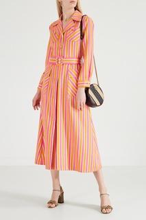 Круглая полосатая сумка-кроссбоди GG Marmont Gucci