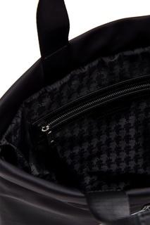 Черный рюкзак с рисунком Karl Lagerfeld