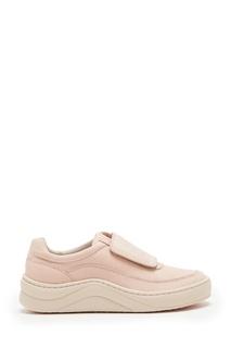 Светло-розовые кроссовки на липучке Timberland