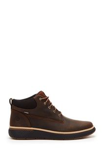 Темно-коричневые ботинки из прочного нубука Timberland