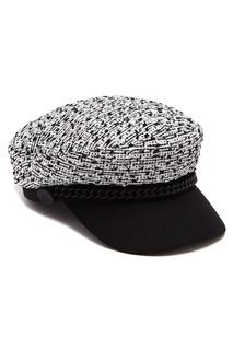 Комбинированное твидовое кепи Karl Lagerfeld
