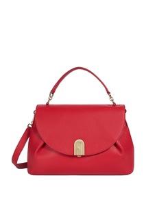 Красная сумка-тоут Sleek Furla