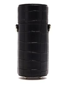Черная сумка-кроссбоди в форме тубуса Leather Like Wood