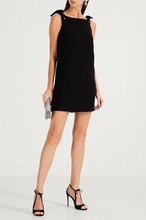 Короткое черное платье-сарафан Miu Miu