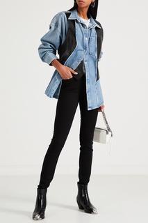 Узкие джинсы черного цвета Calvin Klein
